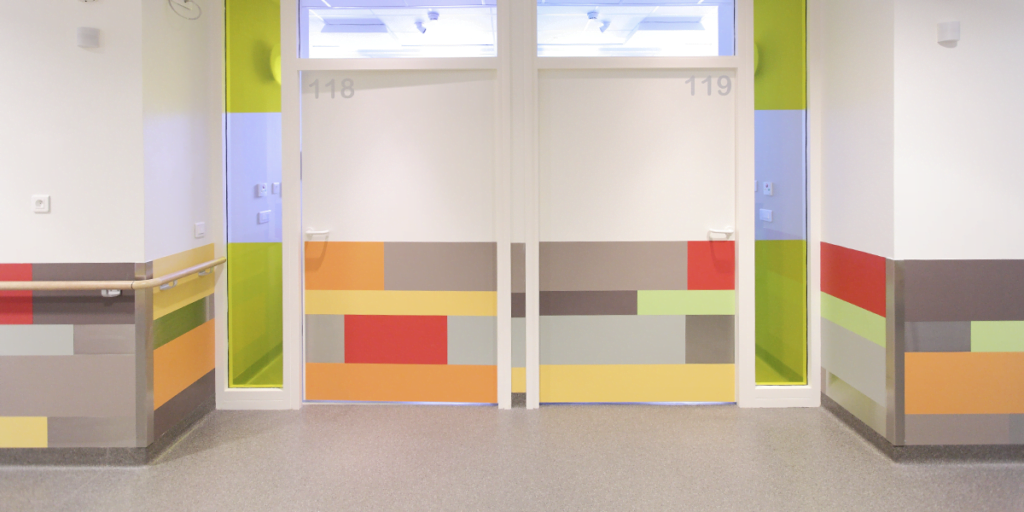 multi-colour wall and door protection panel