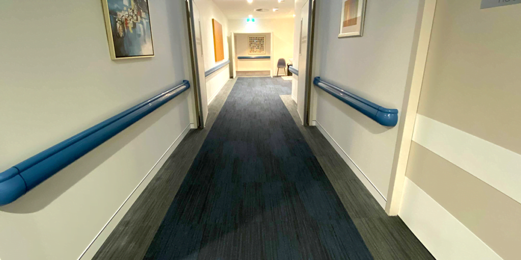 East Sydney Private Hospital handrail and door protection