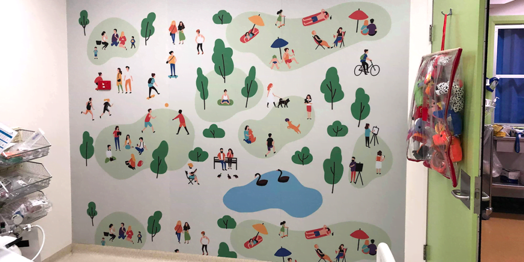 Manning Point Children's Ward wall protection